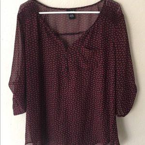 Burgundy Torrid blouse 2
